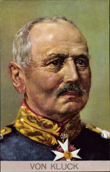 Künstler Ak General Alexander von Kluck, Portrait in Uniform, Stengel 49279