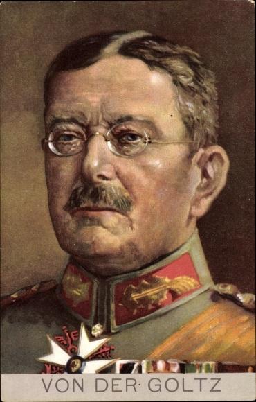 Künstler Ak Generalfeldmarschall Colmar von der Goltz, Portrait in Uniform, Stengel 49283