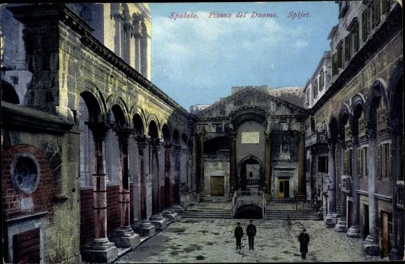 Ak Split Spalato Kroatien, Piazza del Duomo