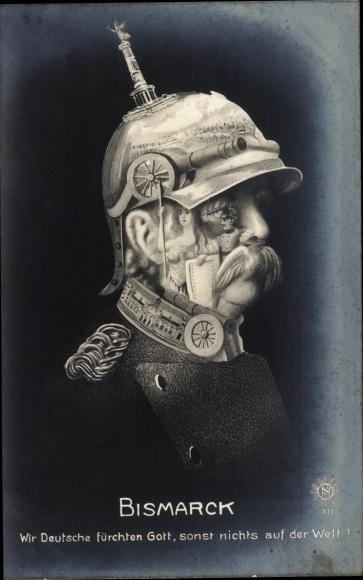 Künstler Ak Otto von Bismarck, Herzog zu Lauenburg, Bundeskanzler, Metamorphose