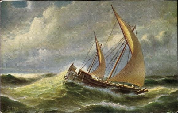 Künstler Ak Rave, Chr., Marine Galerie 172, Arabisches Segelboot, 19. Jahrhundert