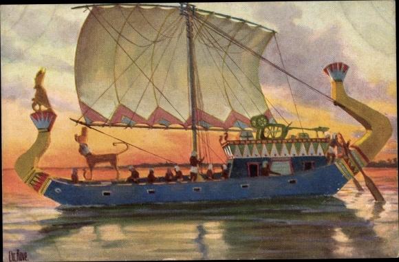 Künstler Ak Rave, Chr., Marine Galerie 200, Reiseschiff eines Prinzen, Alt Ägypten