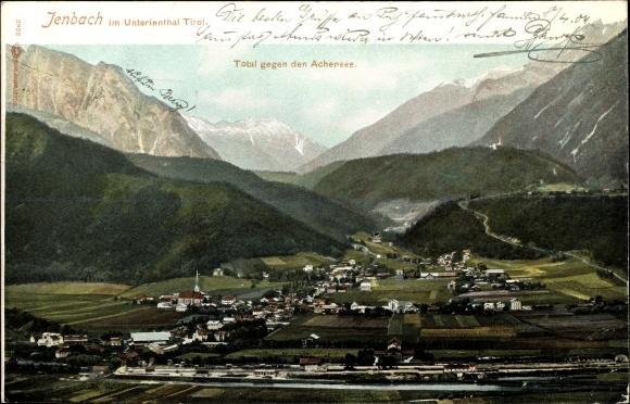 Ak Jenbach in Tirol, Total gegen Achensee, Unterinntal