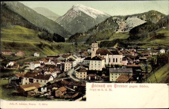 Ak Steinach am Brenner in Tirol, gegen Süden, Kirche, Ortsansicht