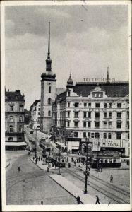 Ak Brno Brünn Südmähren, Kostelni ulice, Kirchengasse