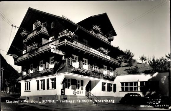 Ak Tschagguns in Vorarlberg, Sonne Gasthof Pension
