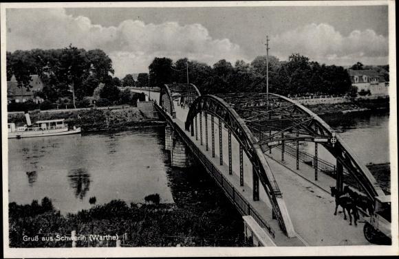 Ak Skwierzyna Schwerin Warthe Ostbrandenburg, Brücke