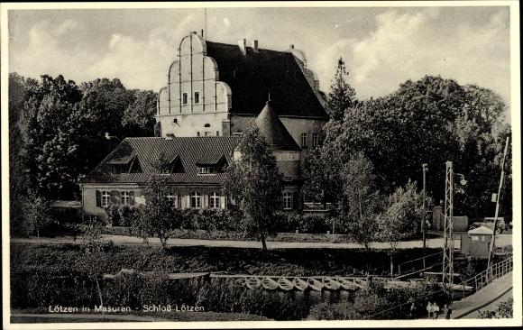 Ak Giżycko Lötzen Ostpreußen, Schloss Lötzen, Zamek