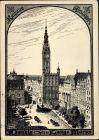 Künstler Ak Gdańsk Danzig, Langer Markt, Rathaus, Artushof