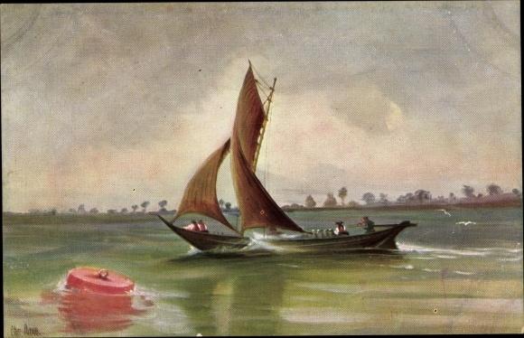 Künstler Ak Rave, Chr., Marine Galerie 264, Milchever auf der Elbe, 1880