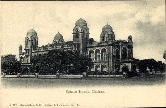 Ak Chennai Madras Indien, Senate House, Senatsgebäude