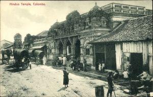 Ak Colombo Ceylon Sri Lanka, Hindoo Temple, Hindu Tempel
