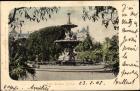 Ak Durban Südafrika, Town Gardens, Parkanlage, Brunnen