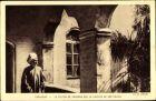 Ak Kamerun, Le Sultan de Foumban sur la Galerie de son Palais