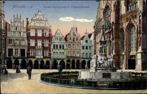Ak Münster in Westfalen, Lambertusbrunnen, Prinzipalmarkt
