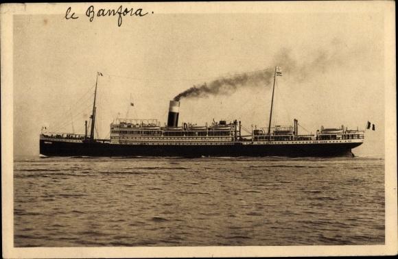 Ak Dampfschiff Banfora, Paquebot, Fabre Line