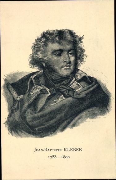 Künstler Ak Jean-Baptiste Kléber, Napoleon, Revolution