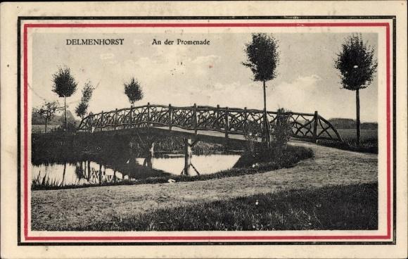 Ak Delmenhorst in Niedersachsen, An der Promenade