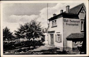 Ak Tabarz im Thüringer Wald, Teilansicht vom Waldrestaurant Deysingslust