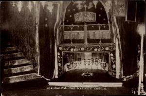 Ak Betlehem Palästina, The Nativity Grotto, Geburtskirche