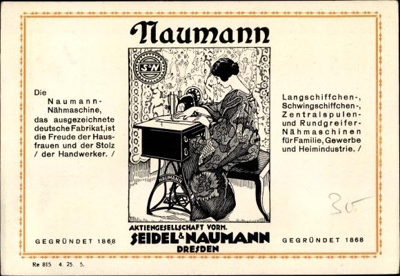 Ak Dresden, Seidel & Naumann AG, Nähmaschine, Näherin bei der Arbeit