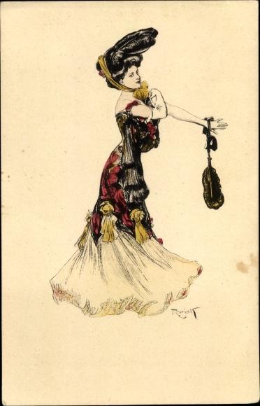 Künstler Ak Reznicek, Ferdinand von, Portrait einer jungen Frau, Simplicissimus