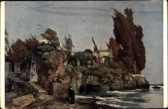 Künstler Ak Böcklin, Arnold, Villa am Meer