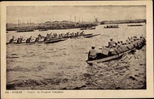 Ak Dakar Senegal, Course de Pirogues Indigènes, Ruderboote