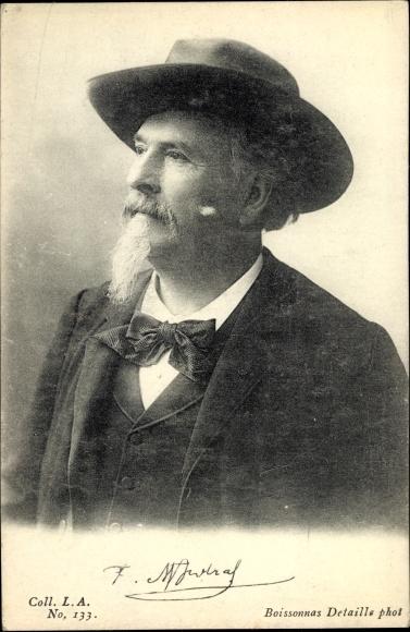 Ak Französischer Schriftsteller Frédérick Mistral, Portrait, Hut