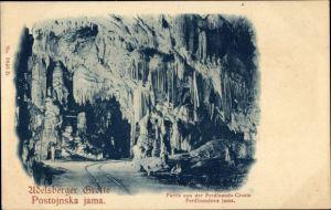 Ak Postojna Adelsberg Slowenien, Adelsberger Grotte, Postojnka jama, Ferdinands Grotte, Ferdinandova