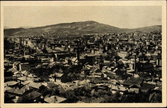 Ak Sarajevo Bosnien Herzegowina, Panorama, Totalansicht