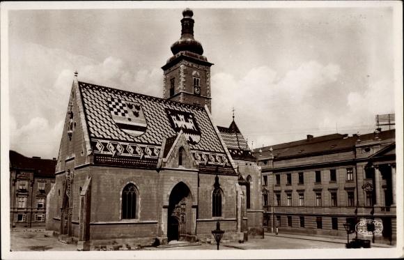 Ak Zagreb Kroatien, Crkva Sv. Marka