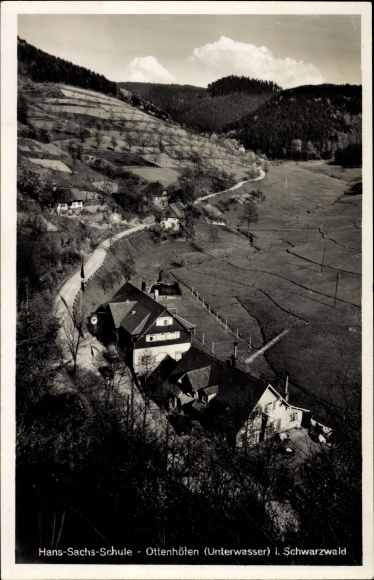 Ak Ottenhöfen im Schwarzwald, Hans Sachs Schule, Panoramaansicht