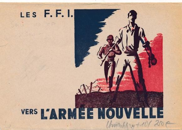 10 alte Ak Exposition des Forces françaises de l'intérieur, 11-20 u Umschlag