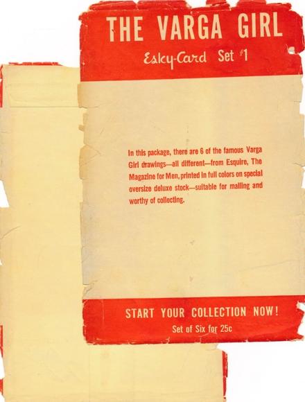 6 alte Künstler Ak Vargas, Alberto, Varga Girl Set 1 mit Umschlag, gesamte Reihe