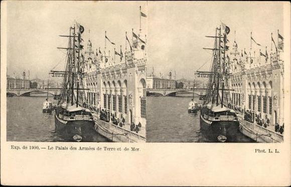 15 alte Stereo Ak Paris, Exposition de 1900, Weltausstellung, diverse Ansichten