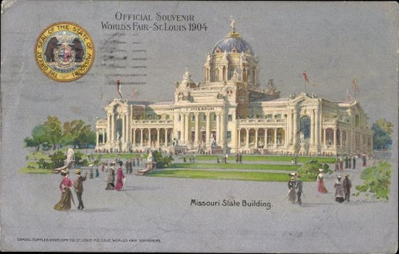 23 Litho St Louis Missouri USA, World's Fair 1904, diverse Ansichten