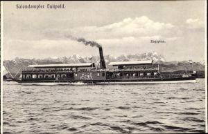 Ak Salondampfer Luitpold auf dem Starnberger See, Zugspitze, Leibschiff der Wittelsbacher
