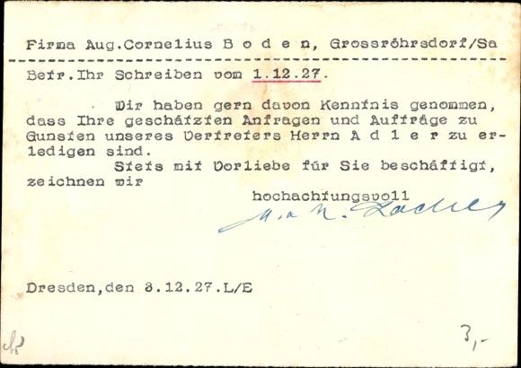 Ak Dresden M R Zocher Bürobedarf Geschäftsbücher Annenstraße 9