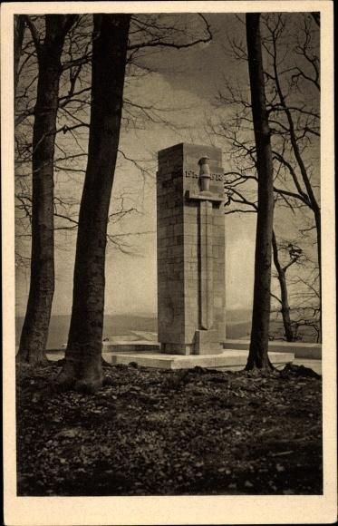 Ak Sondershausen im Kyffhäuserkreis Thüringen, Gedächtnismal auf dem Rondell