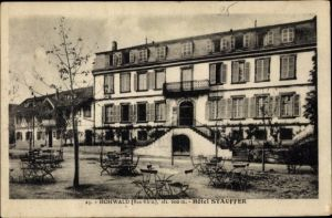 Ak Le Hohwald Bas Rhin, Hotel Stauffer, Gartenansicht, Straße