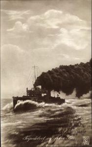 Ak Deutsches Kriegsschiff, Torpedoboot auf hoher See