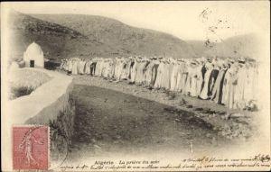 Ak Algerien, La priere du soir, Muslime beim Abendgebet