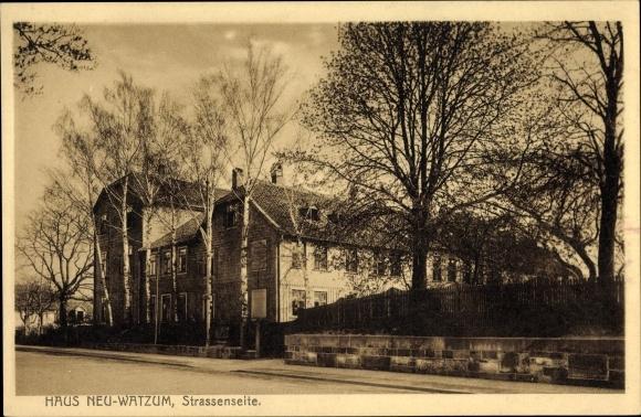 Ak Wolfenbüttel Niedersachsen, Haus Neu Watzum, Straßenseite