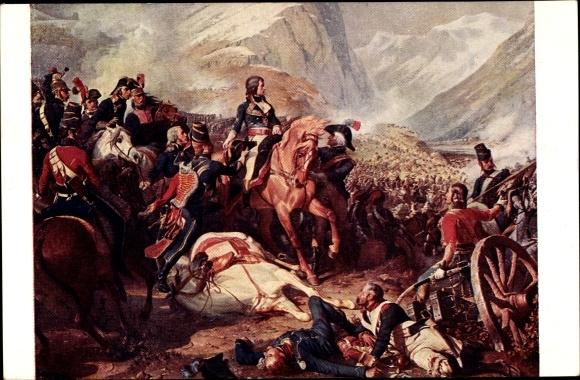 Künstler Ak Philippoteaux, Napoléon, Bataille de Rivoli 04.01.1797