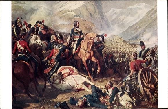 Künstler Ak Philippoteaux, Napoléon, Bataille de Rivoli 14.01.1797