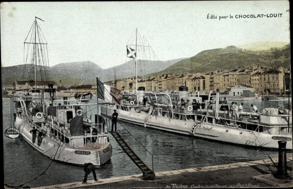 Ak Toulon Var, Französische Kriegsschiffe, Contre Torpilleurs au petit Rang