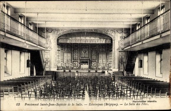 Ak Estaimpuis Wallonien Hennegau, Pensionnat Saint Jean Baptiste de la Salle, La Salle des Fêtes