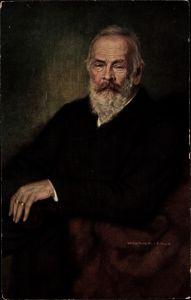 Künstler Ak Firle, Walther, Prinzregent Luitpold von Bayern, Sitzportrait