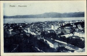 Ak Rijeka Fiume Kroatien, Panorama